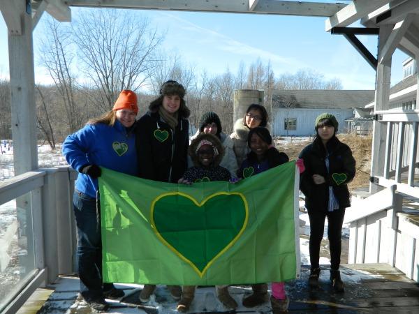 The group of volunteers
