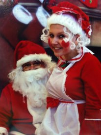 Lesya as Mrs. Claus