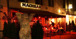 This Berlin bar's name is a play on words. Nachbar means neighbor in German.