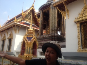 Taking a tour of the Grand Palace.