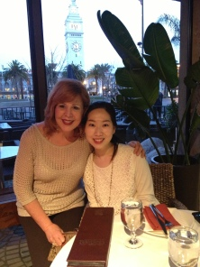 Deborah and one of her students from Japan