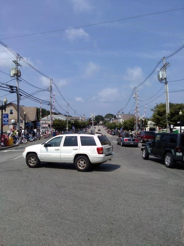 Main Street, OOB, on my way to the beach...