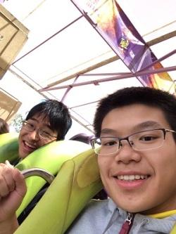 Keita and Ben at Six Flags