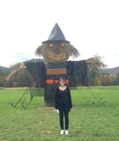 Elisa enjoying the Halloween spirit
