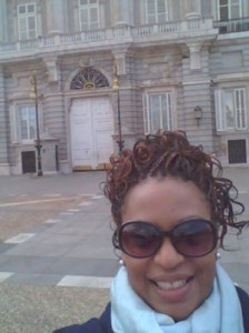 A 'selfie' at the Royal Palace in Madrid