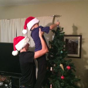 Ota and Braelyn doing a bit of decorating